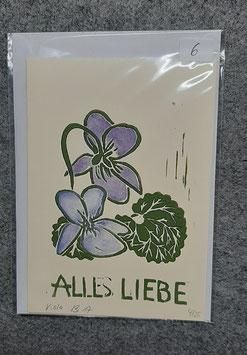 15/2020 Veilchen Linolschnitt