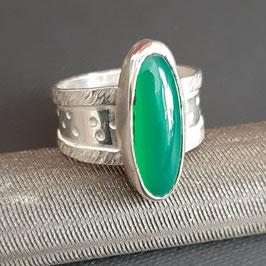 9/2020 Ring 925 mit Chrysopras