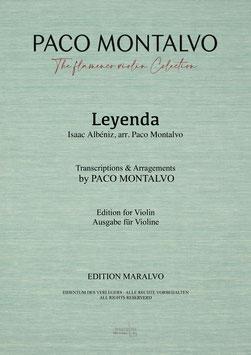 """Partitura de violín """"Leyenda"""" Arreglada y digitada por Paco Montalvo"""