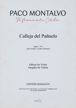 """Calleja del Pañuelo"" de Paco Montalvo - Partitura de violín"