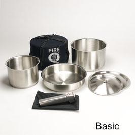 Edelstahl Kochset FireQ Basic und Basic+