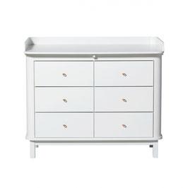 Oliver Furniture commode à  langer 6 tiroirs blanc