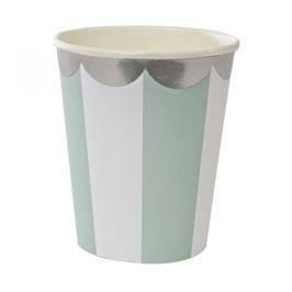 Meri Meri aqua stripe cup