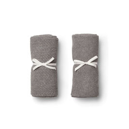 LIEWOOD tenna knitted towel grey melange