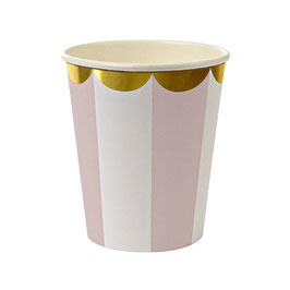 Meri Meri pink stripe cup