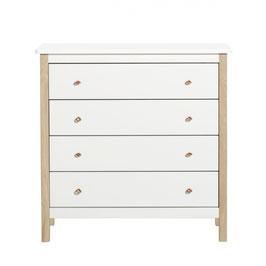 OLIVER FURNITURE commode wood 4 tiroirs chêne/blanc