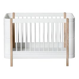 Oliver Furniture lit mini+ basic blanc/chêne 041425