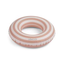 LIEWOOD baloo bouée rayures rose/crème