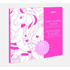 OMY poster géant à colorier LILY