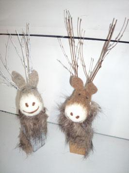 Rudolf auf Holz