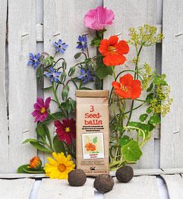 Seedballs Essbare Blüten 3er