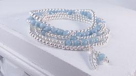 Armbänder aus Silber und Aquamarin * (DAB 85)
