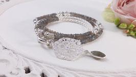 Halskette aus Labradorit und Silber* DHS 7