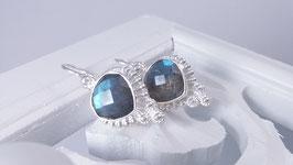 Ohrringe aus Silber mit Labradorit  (DOS 34)