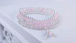 Armbänder aus Silber und Rosenquarz * (DAB 83)