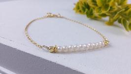 Armband aus vergoldetem Silber und Süsswasserperlen ( DAB 103)