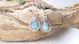 Ohrringe aus Silber und Labradorit (DOS 24)