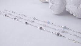 Silberarmband mit verschiedenen Edelsteinen *  (DAB 126)