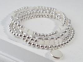 Armbänder aus weissem Mondstein und Silber  * (DAB 131)