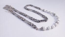 Hosenkette aus Magnesit und Edelstahl * (HHK 3)