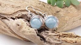 Ohrringe aus Silber und Aquamarin (DOS 25)