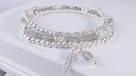 Armbänder aus Silber und Labradorit * (DAB 88)