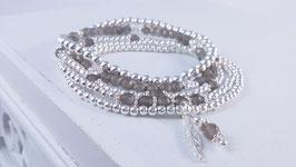 Armbänder aus Silber und grauem Mondstein * (DAB 84)