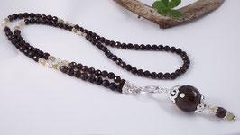 Halskette aus Rauchquarz, Citrin, Apatit und Silber * (DHS 4)