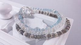 Armbänder aus Labradorit, Regenbogen-Mondstein oder Aquamarin  * (DAB 119)