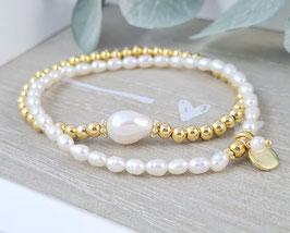 Armbänder Süsswasserperlen und vergoldetem Silber * (DAB 142)