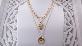 Halsketten vergoldet - PINK SAND  (DHS 42)