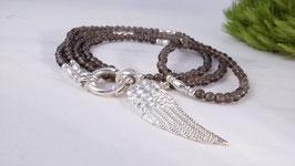 Halskette aus Rauchquarz *(DHS 29)