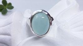 Silberring mit Aqua Achat (DFR 15)