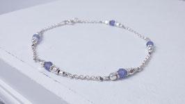 Armband aus Silber und Tansanit *  (DAB 125)