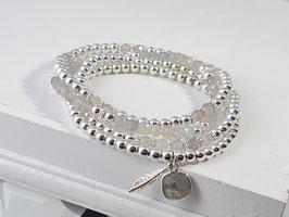 Armbänder aus Labradorit und Silber  * (DAB 132)