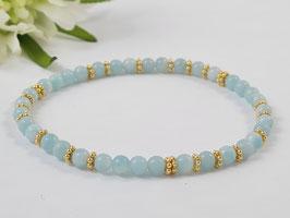 Armband aus Amazonit und vergoldetem Silber * (DAB 137)