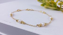 Armband aus vergoldetem Silber und Süsswasserperlen ( DAB 102)