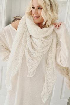 Schal aus Mohair - off white  (S 10)
