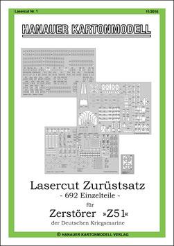 Lasercut Nr. 1,   Hanauer Kartonmodell  (11/2016)