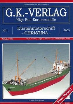 Küstenmotorschiff CHRISTINA 1960