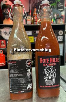 """Etiketten für Soli - """"ROTE HILFE - EX MEX"""" (Oles Mexikaner) 4er-Satz"""