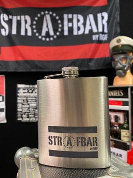 STRAFBAR-Flachmann aus Edelstahl