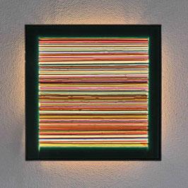 Lichtkunstbild ' Farbzeilen '