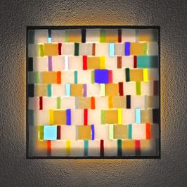 Lichtkunstbild 'DNA-1'