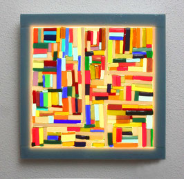 Lichtkunstbild ' Farbverkehr '