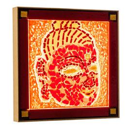 Lichtkunstbild   Buddha' s Licht