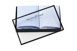 Taschentücher weiß, hellblau gestreift