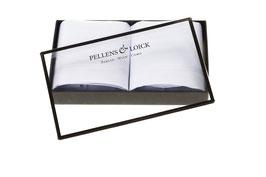 Taschentücher handrolliert mit feinen Linien am Rand