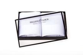 Taschentücher weiß mit breiter Atlaskante