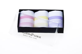 Damentaschentücher mit farbigem Rand